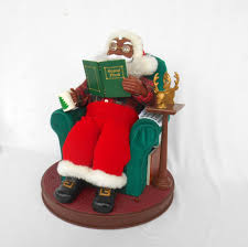 Dillards Christmas Decorations 2014 by Avon Christmas Santa Claus Read Me A Story Animated Black African