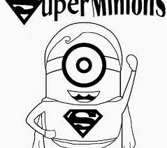 Printable Colouring Pages For Kids Superheros Childrens Film Free Minion Clipart Cartoon Superhero Superman Draw