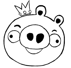 Angry Bird Girl Pig Colouring Pages