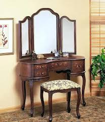 Waterfall Vanity Dresser Set by Vintage Waterfall Dresser With Round Mirror Vintage Dresser With