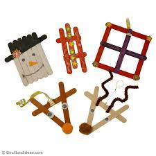 bricolage de noël pour enfant déco de sapin en bâtonnets idées