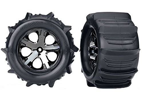 Traxxas 3689 Stampede Paddle Tires and Wheels