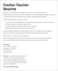 Resume Format Teacher Sample Awesome Collection For Teachers