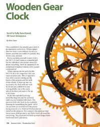 wood free wooden gear clock plans for kids pdf plans