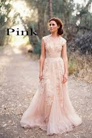 Vintage Wedding Dresses Cap Sleeve Lace 2017 Champagne Ruffles Beach