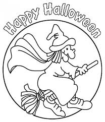 Scary Halloween Witch Coloring Pages by Happy Halloween And Pretty Witch Coloring Page For Kids Printable