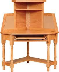 Corner Computer Desk With Hutch by Carlisle Oak Corner Desk And Mission Secretary Desk