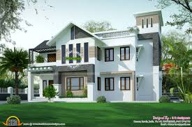 Pitched Roof House Designs Photo by Modern Sloping Roof House In 315 Square Yards Kerala Home Design