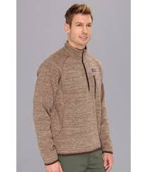 patagonia better sweater 1 4 zip in natural for men lyst