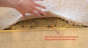 installation carpet to tile threshold new decoration