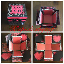 Love Heart Explosion Box Love exploding box Explosion Box