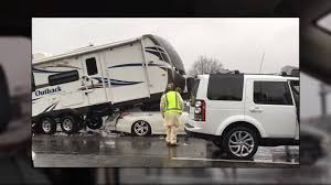 100 Sport Truck Rv Nissan Altima Wedges Itself Under Travel Trailer And Ram Pickup In