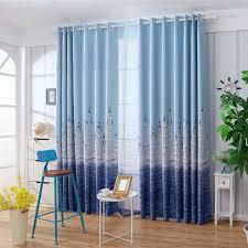 100 Residence Curtains Bedroom Castle Print Blackout Bedroom Windows Decor Drapes