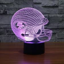 nfl san francisco 49ers 3d led light l tshirtnow