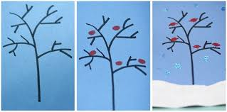 Winter Collage Craft For Preschoolers
