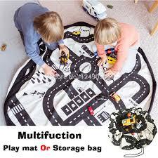 jeu rangement de chambre ins enfants ronde route jouer jeu tapis multifonction portable