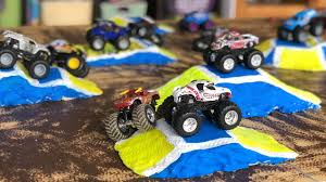 100 Monster Jam Toy Truck Videos DIY Track Jumps For Hot Wheels S YouTube