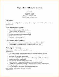 Cv Examples With No Experience Flight Attendant Resume Sample
