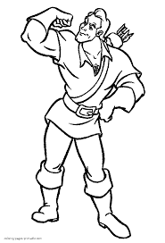 Disney Villains Coloring Pages With Gaston