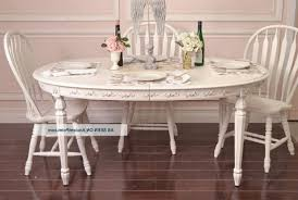 Shabby Chic Pedestal Dining Table White Tufted Comfy Fabric Chairs Wine Glass Set Rectangular