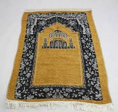 New Design Unique Anti Slip Travelling Islamic Prayer Mat Rug Carpet For Worship Salat Musallah Praying 70110cm