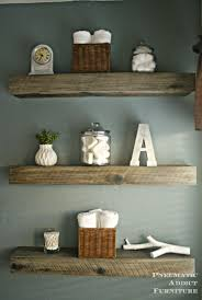 How To Create A Weathered Barnwood Look With This Inexpensive Substitute Wood Bathroom ShelvesDecorating