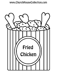 "Fried Chicken Black and White with words ""Fried Chicken"""