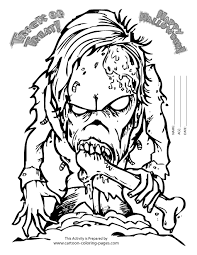 Scary Coloring Pages For Adults Of Halloween
