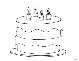 Simple Birthday Cake Drawing Color Pages Activity 1 How To Draw A Coloring Step By Gallery