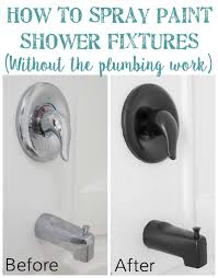 Brushed Nickel Bathroom Faucets Cleaning by How To Spray Paint Shower Fixtures