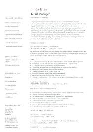 Resume Retail Template Management Skills For Manager