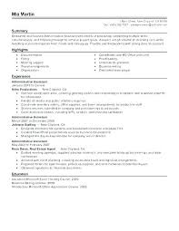 Sample Resumes For Administrative Assistants Feat Assistant Resume