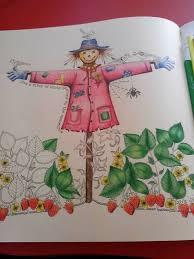 Scarecrow Secret Garden Espantalho Jardim Secreto Johanna Basford