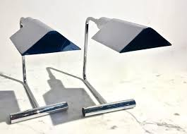Cedric Hartman Table Lamps by Pair Of Koch And Lowy Chrome Table Lamps Manner Of Cedric Hartman