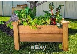 Wood Planter Box Raised Elevated Bed Garden Flower Herb Rustic Outdoor Rectangle