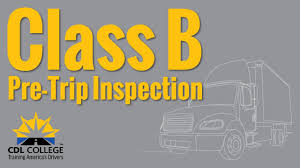 TRUCK DRIVER STUDENTS! Class B Pre Trip Inspection (stable Camera ...