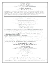 Elementary Teacher Resume Examples 2013 Feat Special Education Samples Download