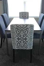 Chair Covers Dining Room With Rectangle Brown Wood Table And White Fit Cotton