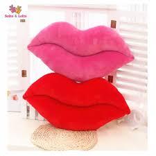 baise dans la chambre big lèvres rouges article coussin bouche baiser oreiller la