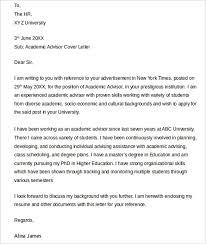 Advisor Cover Letters] 67 images 6 sample academic advisor
