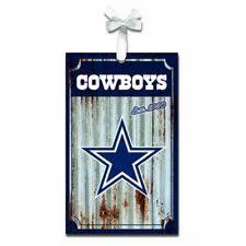 Dallas Cowboys Metal Farmhouse Rustic Ornament NFL Licensed Christmas Decoration