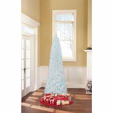 Get Quotations White Artificial Christmas Tree 7 Ft Tall Blue Lights Undecorated
