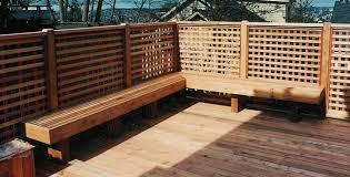 deck benches benches custom cedar benches composite benches