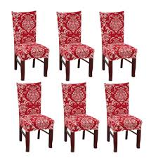 Amazon.com: SUBCLUSTER 6 Pcs/Set Soft Stretchable Dining Chair ... Pittsburgh Chair Covers Services Festive Holiday Poinsettia Tufted Cushion Padded Seat New Cozy Cover Btr Back To Realitee Short Ding Room Slip Cover Asddfxfff By Esapnol1 Issuu Christmas Chair Seat Cover Santa Snowman Red Green Table Dropshipping For Christmas Claus Mrs Santa Xgiejdeducationaddainfo Bling Custom Fitted Back Washable Removeable Innovative How To Make And Ding Cushions Patio Kitchen And Bench Matching Table Red Father Toilet Rug Set Home Hotel