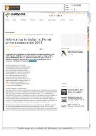 Informatica in Italia 4  nel primo semestre del 2013