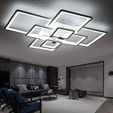 tins deckenleuchte led modern deckenle aluminium acryl rechteck deckenle wohnzimmer pendelleuchte hängele kronleuchter 8 kopf kühles weiß
