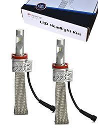 sinoparcel h11 led headlight bulb 8 000 lm 2 bulbs