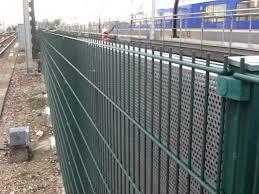 mur anti bruit en acier galavanise ligne tgv installation de
