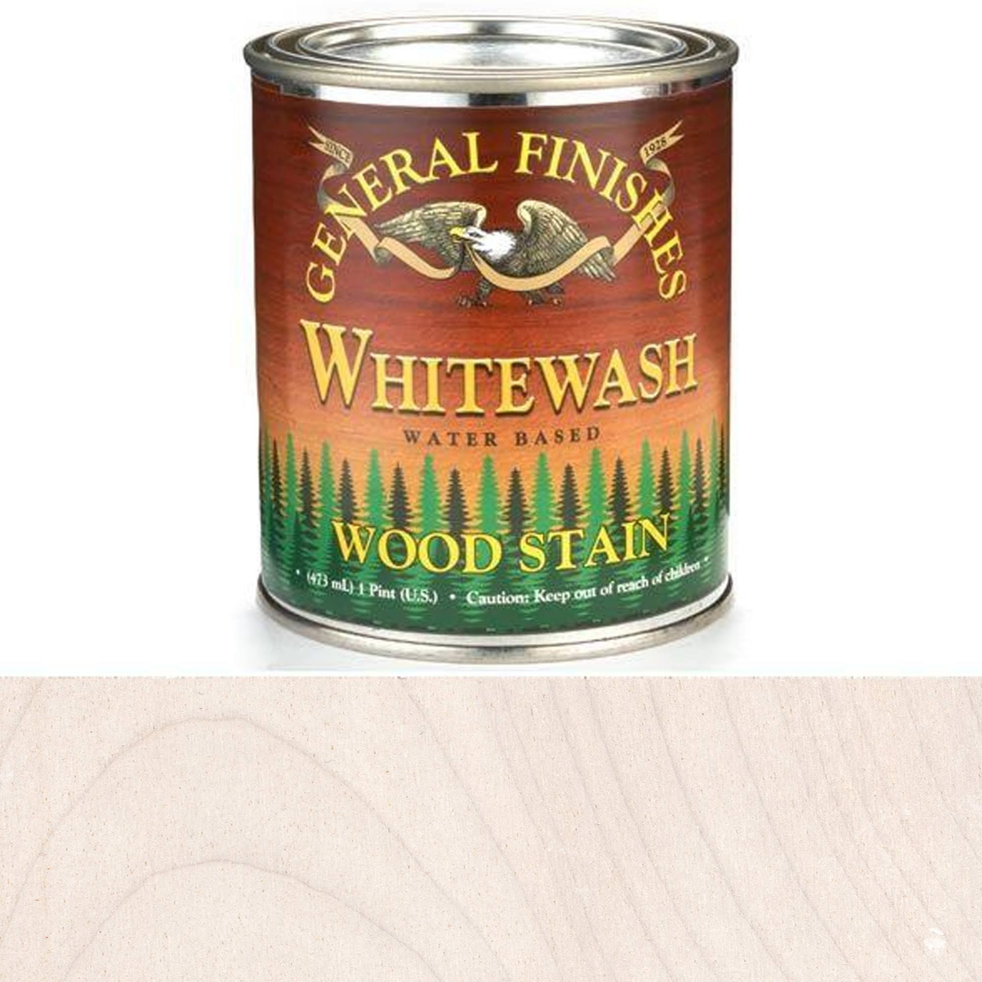 General Finishes Water Based Wood Whitewash Stain, Pint