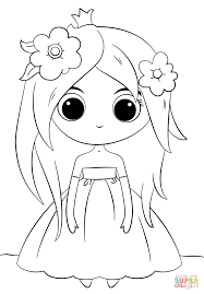 Click The Cute Chibi Princess Coloring Pages